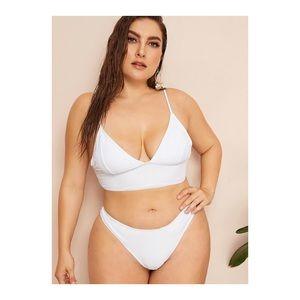 Plus Seam Top High Cut Bikini